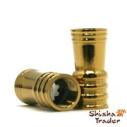 Shisha Schlauchadapter Gold