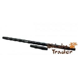 Smokah Alu Bamboo Mundstück mit Anschluss schwarz 40cm