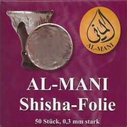 Al Mani Shisha Folie 50 Blatt 0,03mm ungelocht