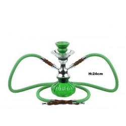 Shisha 23cm grün 2 Schlauch