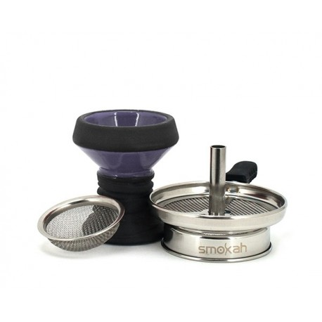 Smokah Shisha Steinkopf Kamin-Set Violet inkl. Einlegesieb