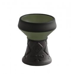 Al-Mani Shisha Steinkopf Opal-Edition 4 Loch Black Green