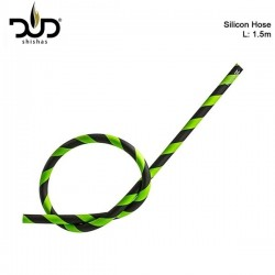 DUD-Shisha Silikonschlauch 150cm matt schwarz grün