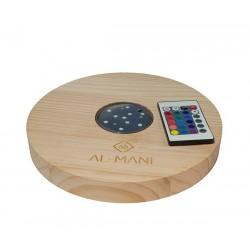 Al-Mani Shisha Untersetzer aus Holz mit LED-Einsatz