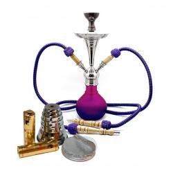 """Aladin """"Numea 2"""" Shisha Lila-Pink Set"""